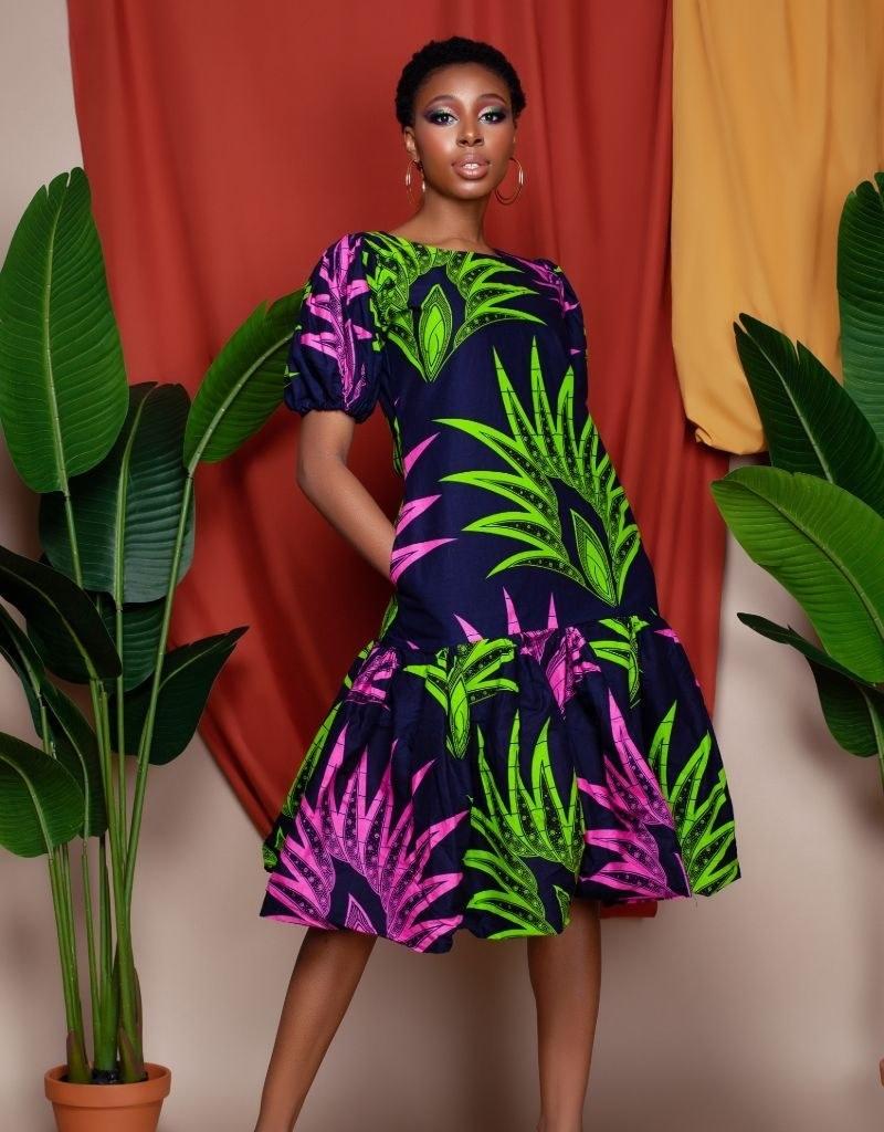 Model wearing dress from Cee Cee's Closet