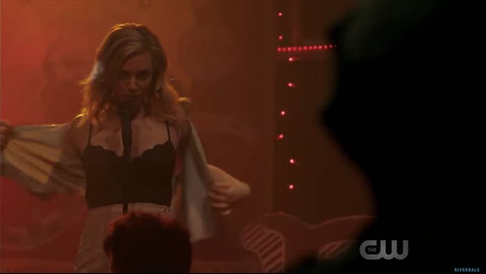 Betty does a striptease in a bar full of adults