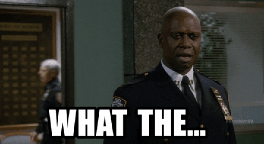 """Captain Holt saying """"What the..."""""""