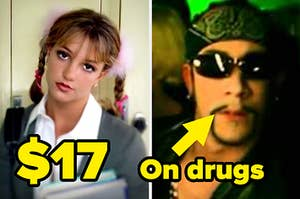 britney in baby one more time and aj in the call music video