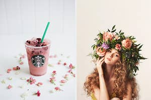 a pink fruity starbucks drink meaning you're the fairy core aesthetic