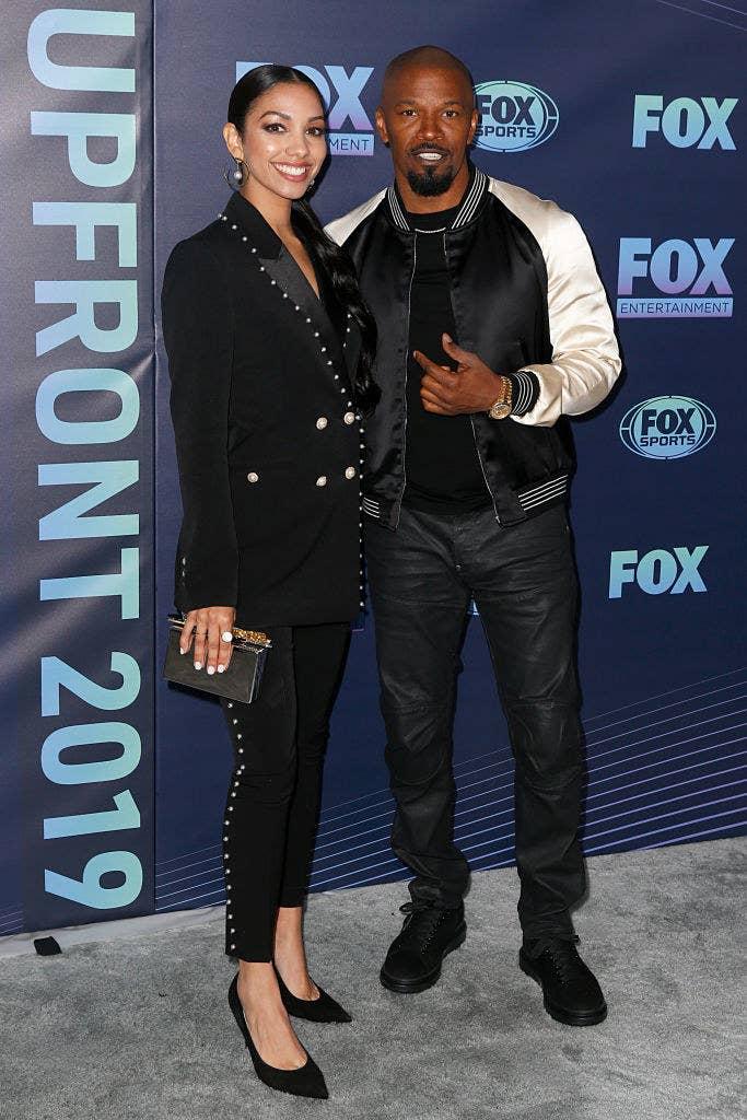 Corinne Foxx (L) and Jamie Foxx attend the 2019 FOX Upfront
