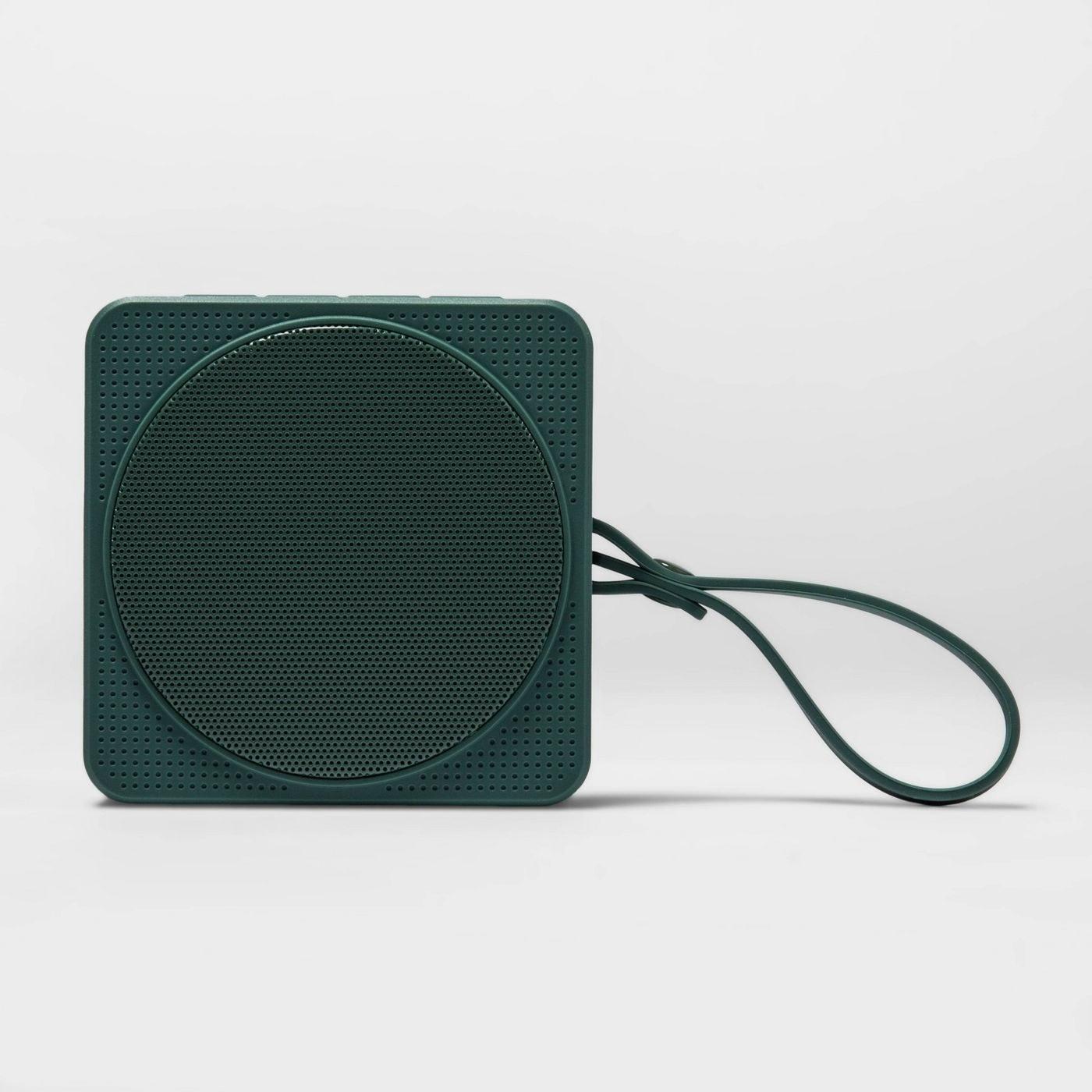 Green portable speaker