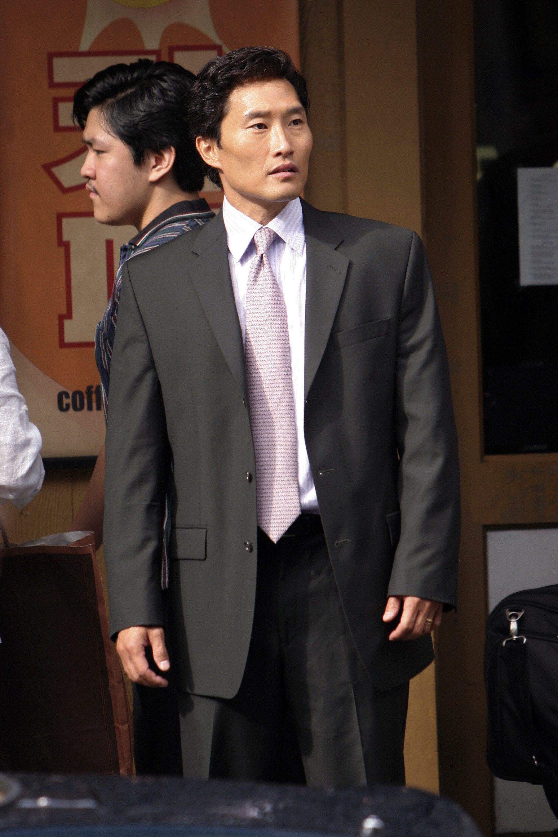 Kim in a suit in the TV show Lost