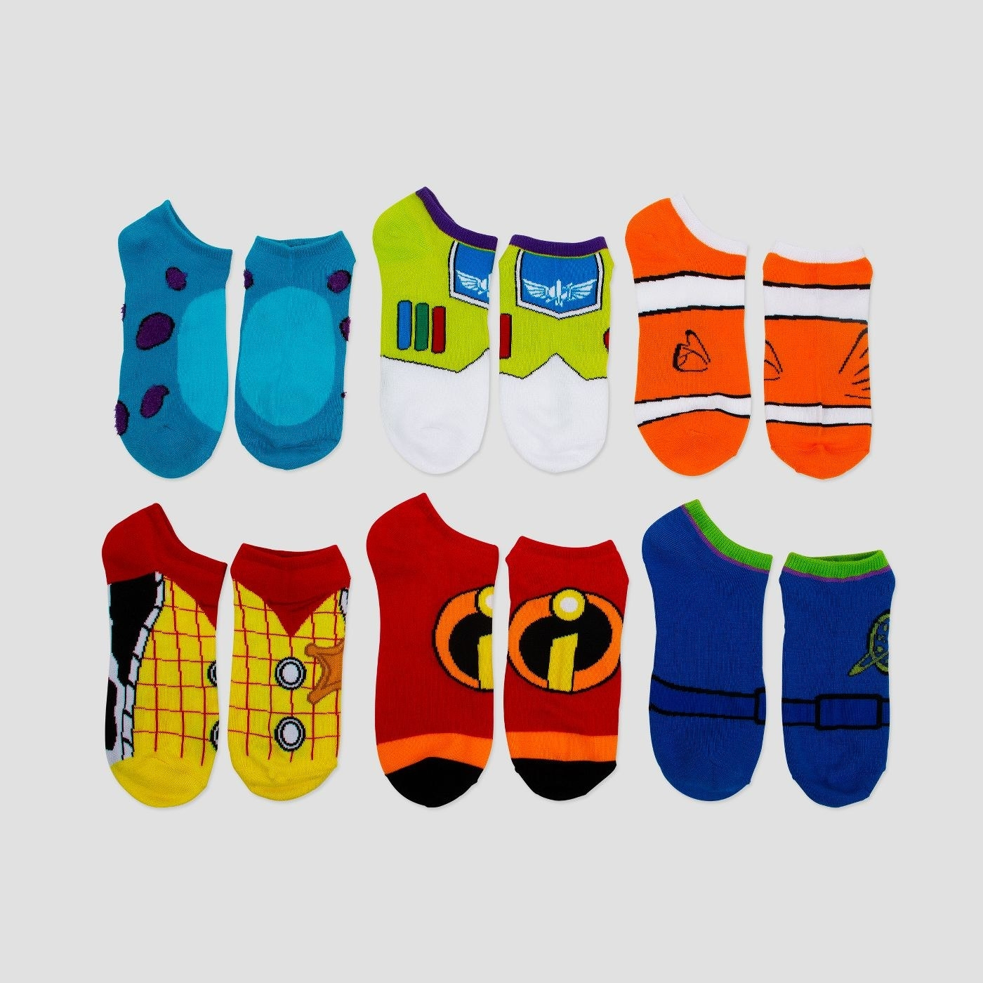 Disney socks in all colors of the rainbow