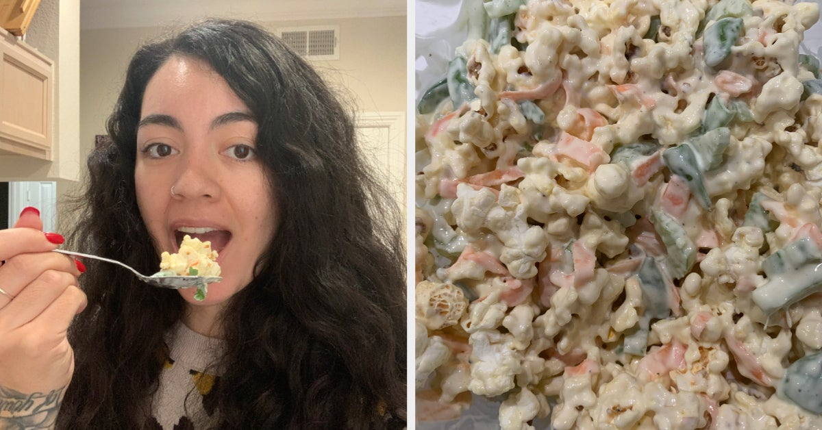 I Made The Viral Popcorn Salad, And Oh My Freaking God