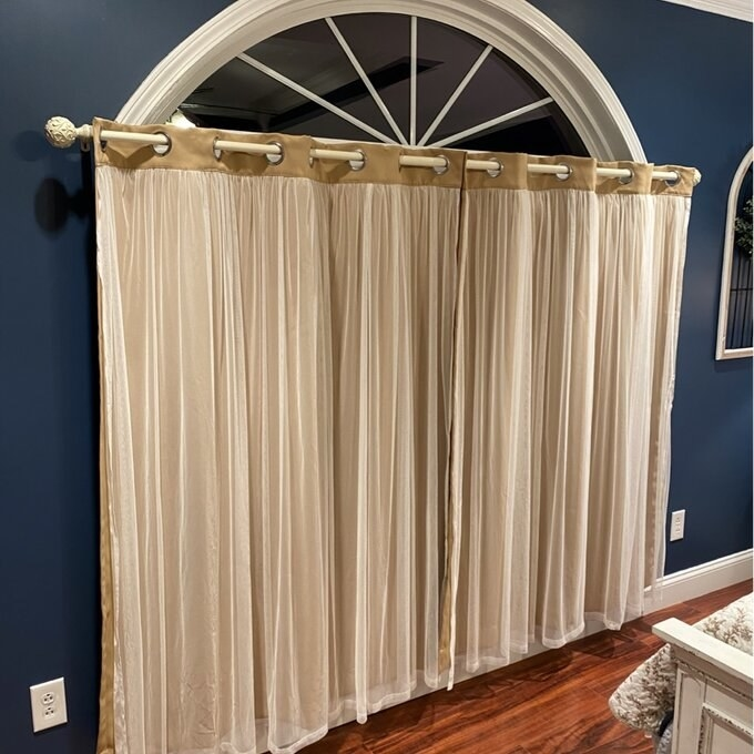 a reviewer's gold curtain panel set