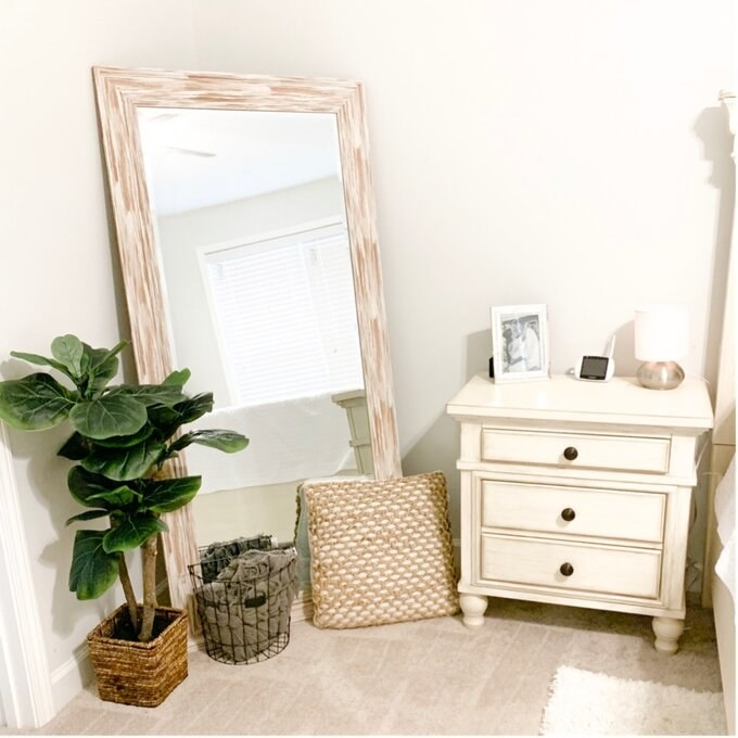 Review photo of the antique white wash mirror