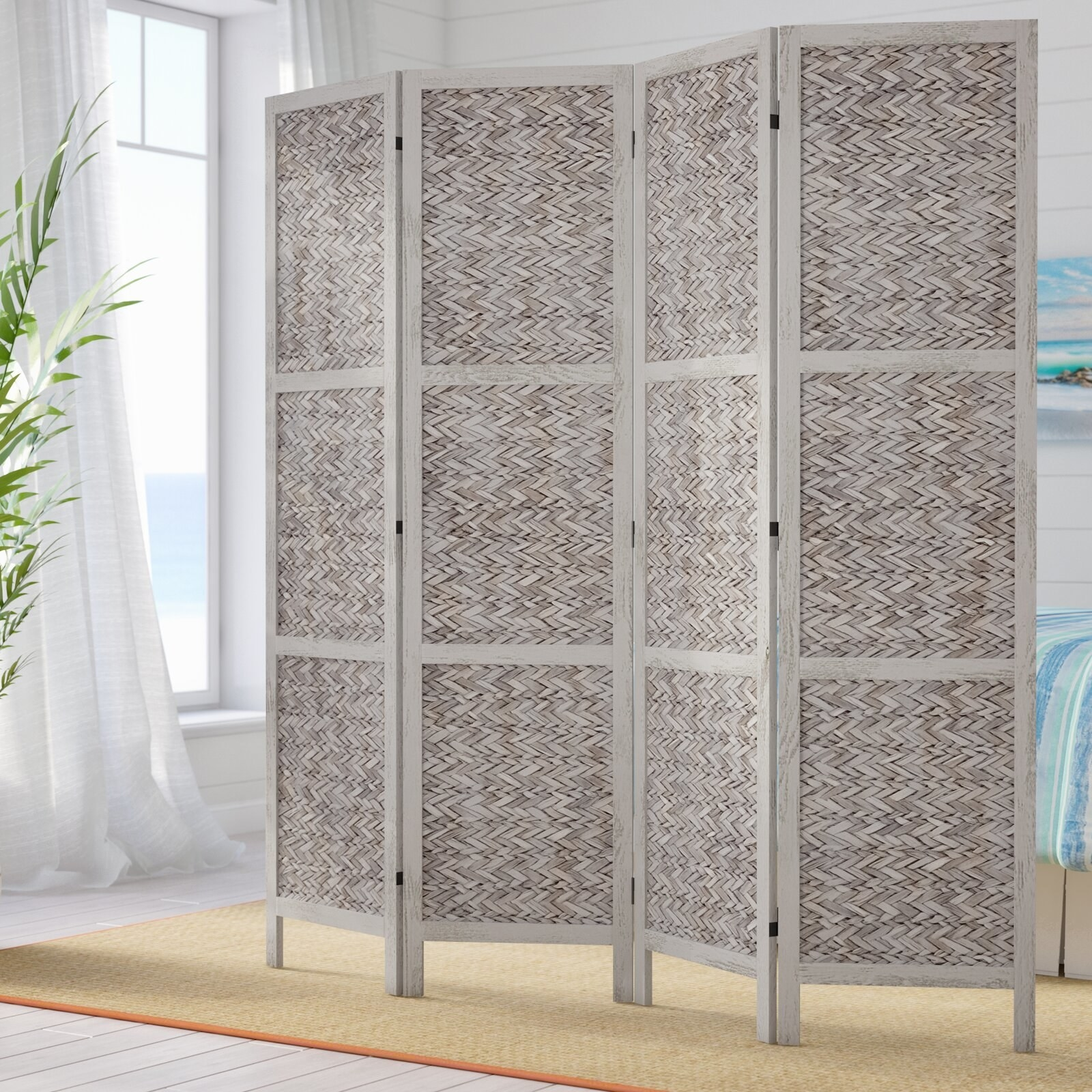 The gray room divider panel