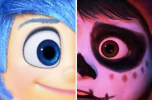 Two Pixar character eyes