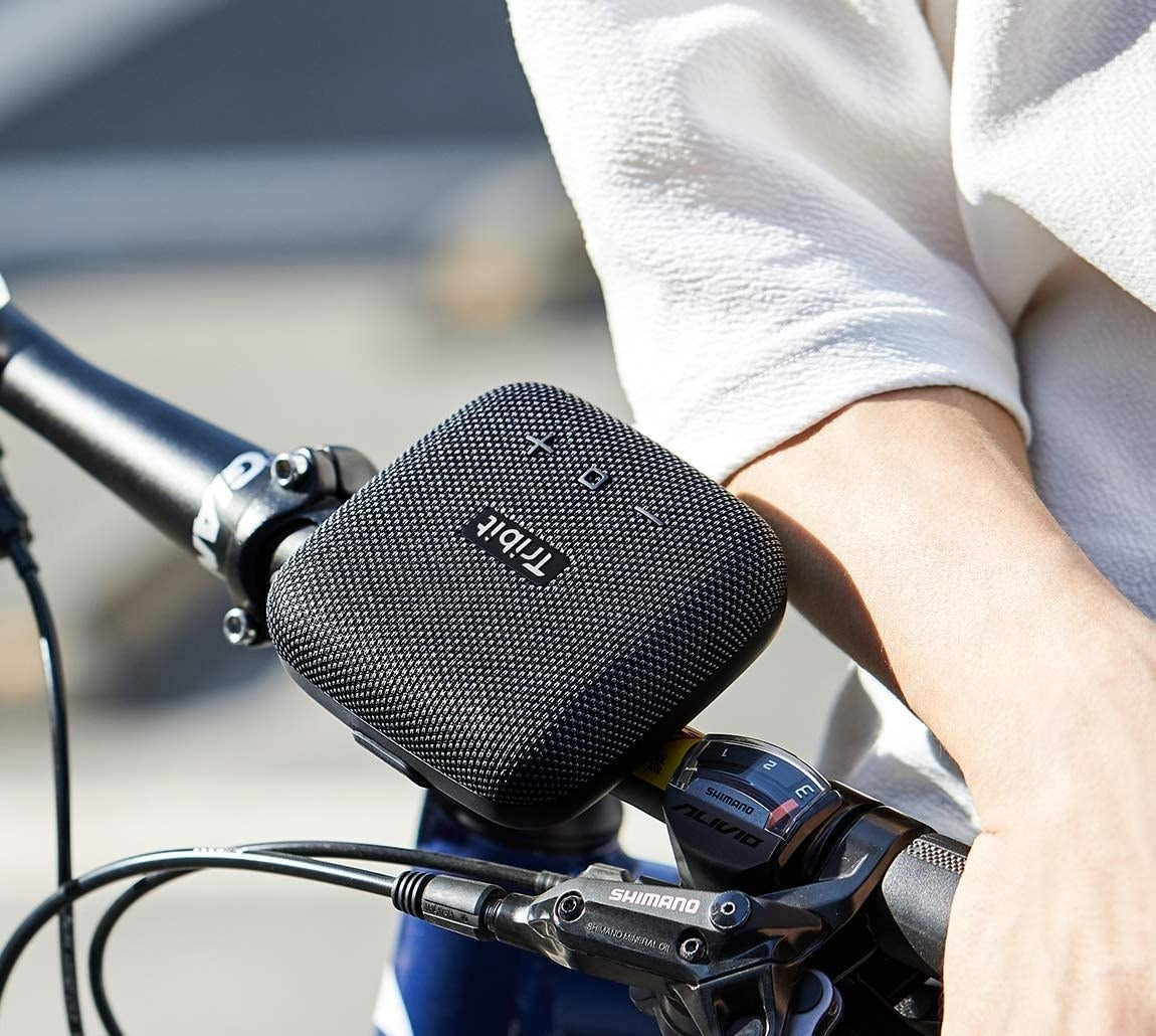 The speaker attached to a bike