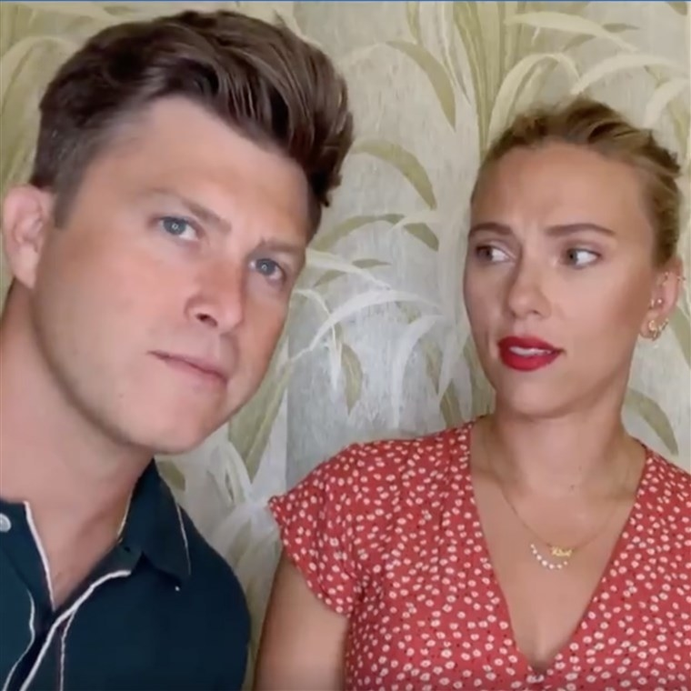 on drag race with husband Colin Jost