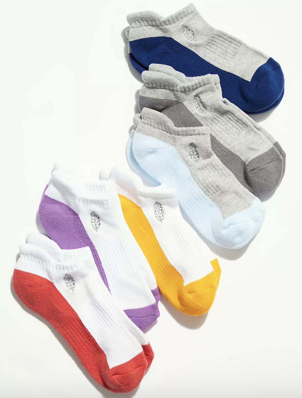 the multi-colored socks