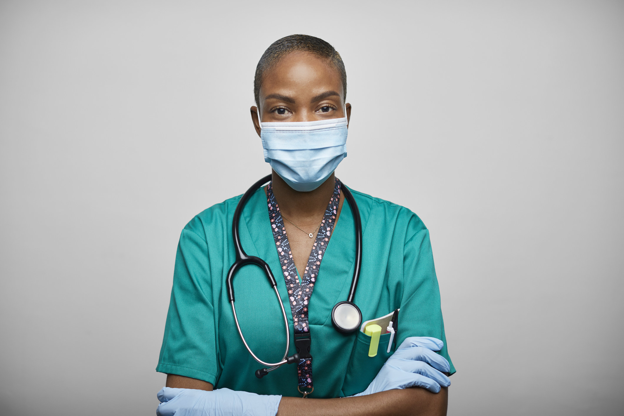 nurse in a mask