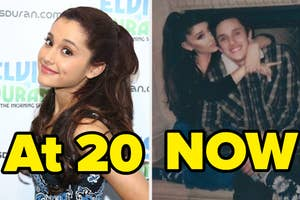 ariana grande when she was 20 and now with her bf