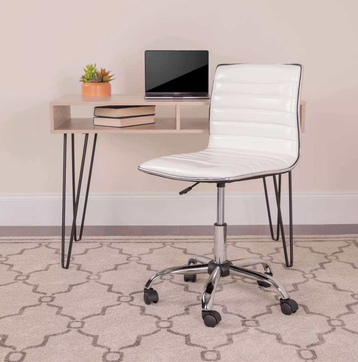 The armless desk chair