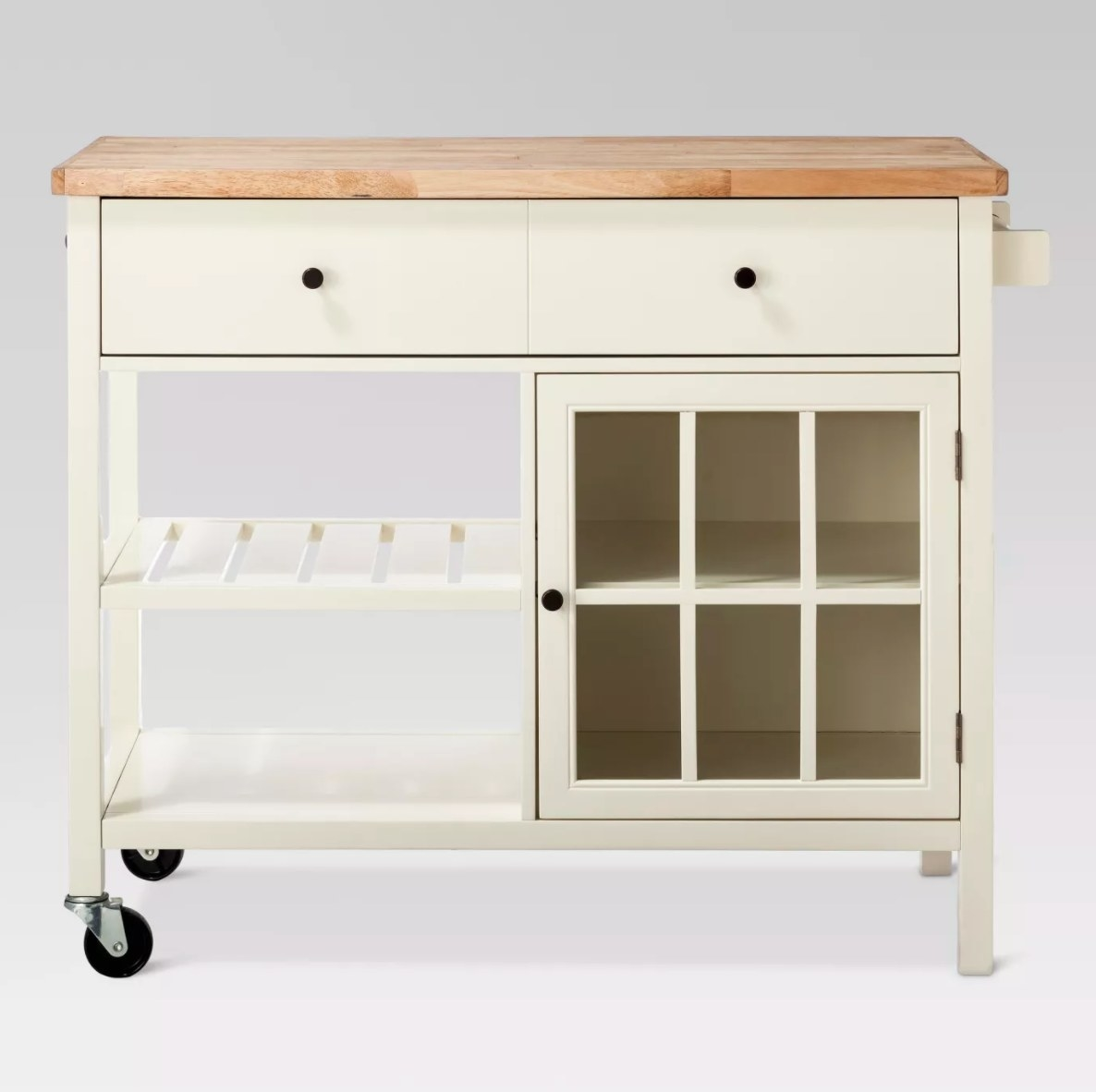 The wood top kitchen island in shell