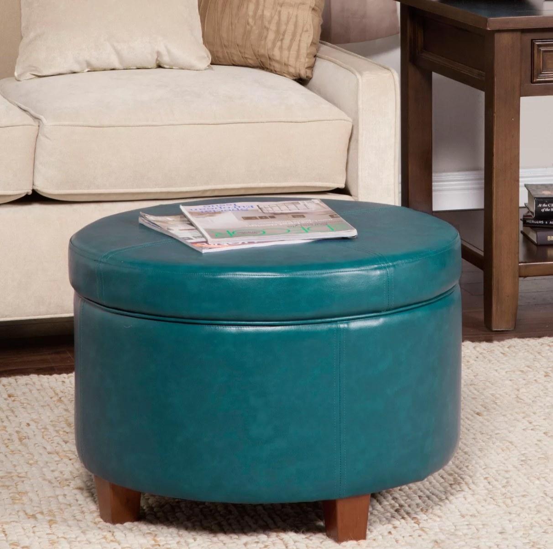 The round storage ottoman