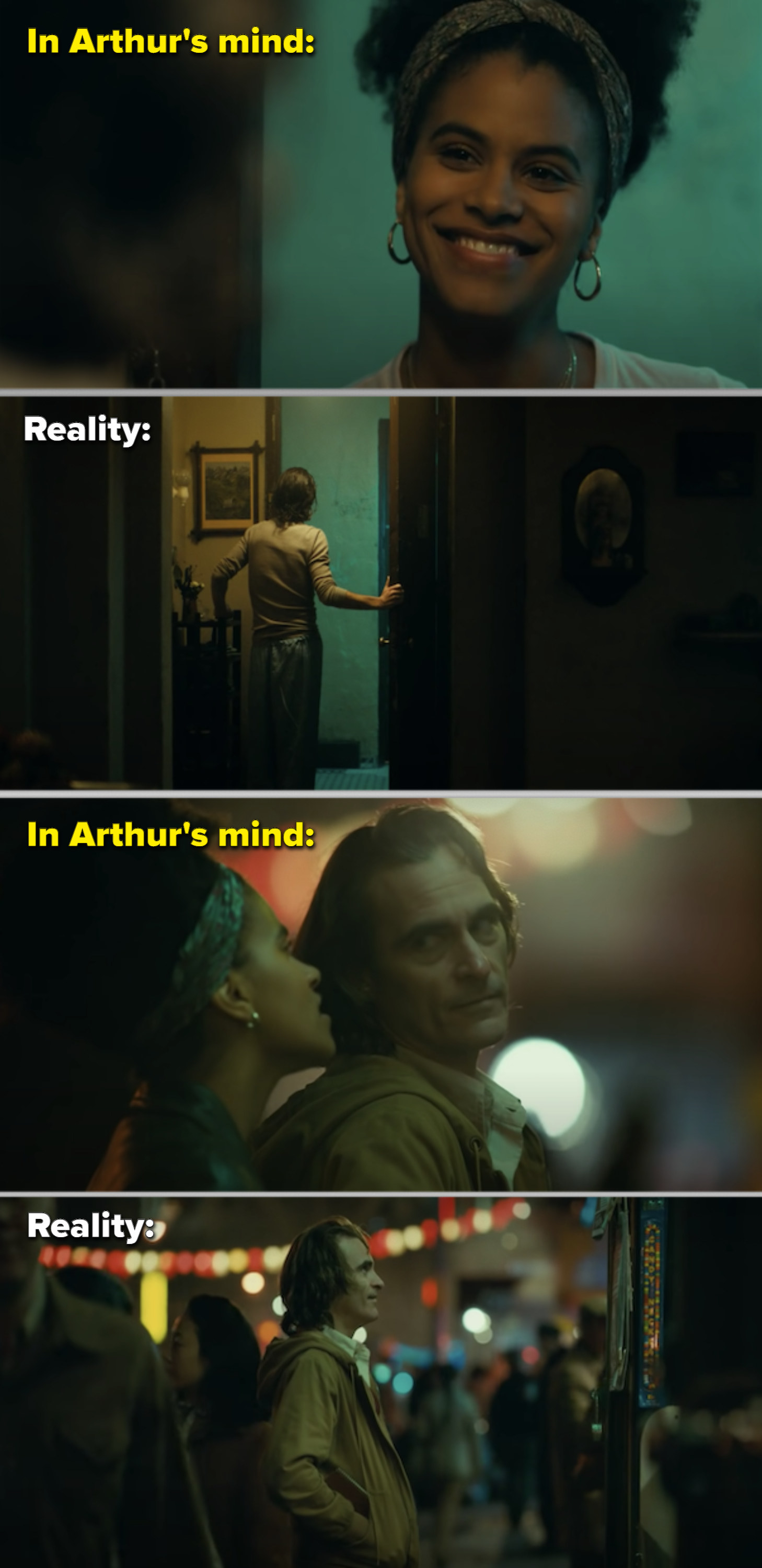 Arthur and the woman in his apartment