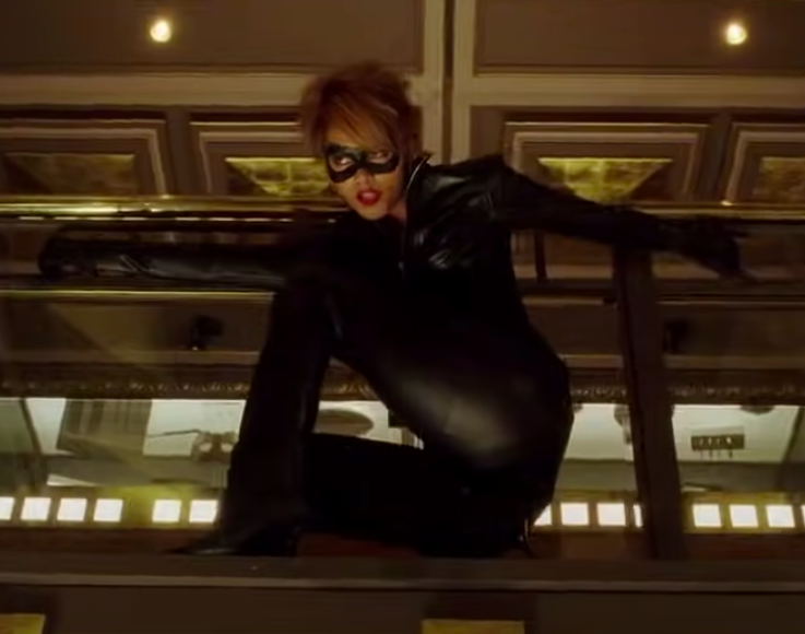 Catwoman faced off against an evil beauty mogul played by Sharon Stone