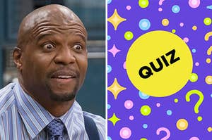 Terry from Brooklyn Nine Nine and a BuzzFeed quiz badge