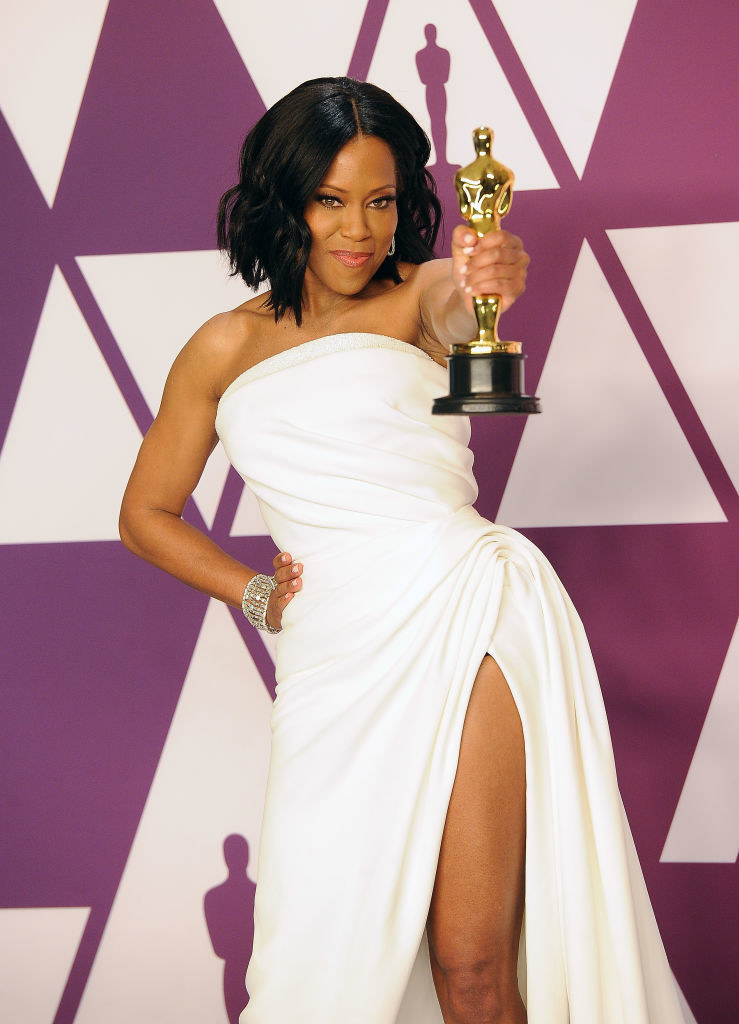 Regina King poses with her award for Best Supporting Actress (If Beale Street Could Talk ) inside the Press Room at the 91st Annual Academy Awards