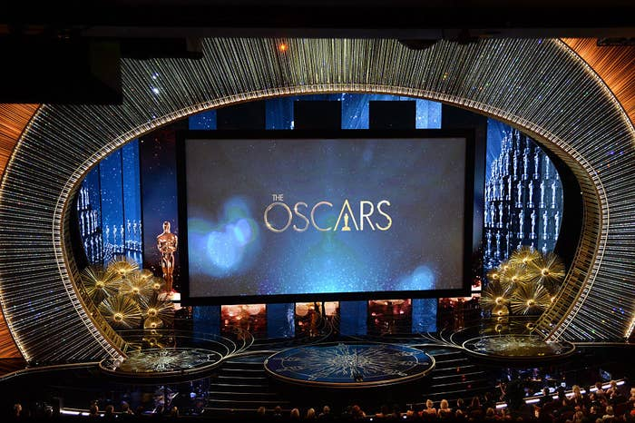View of the stage during the 88th Annual Academy Awards