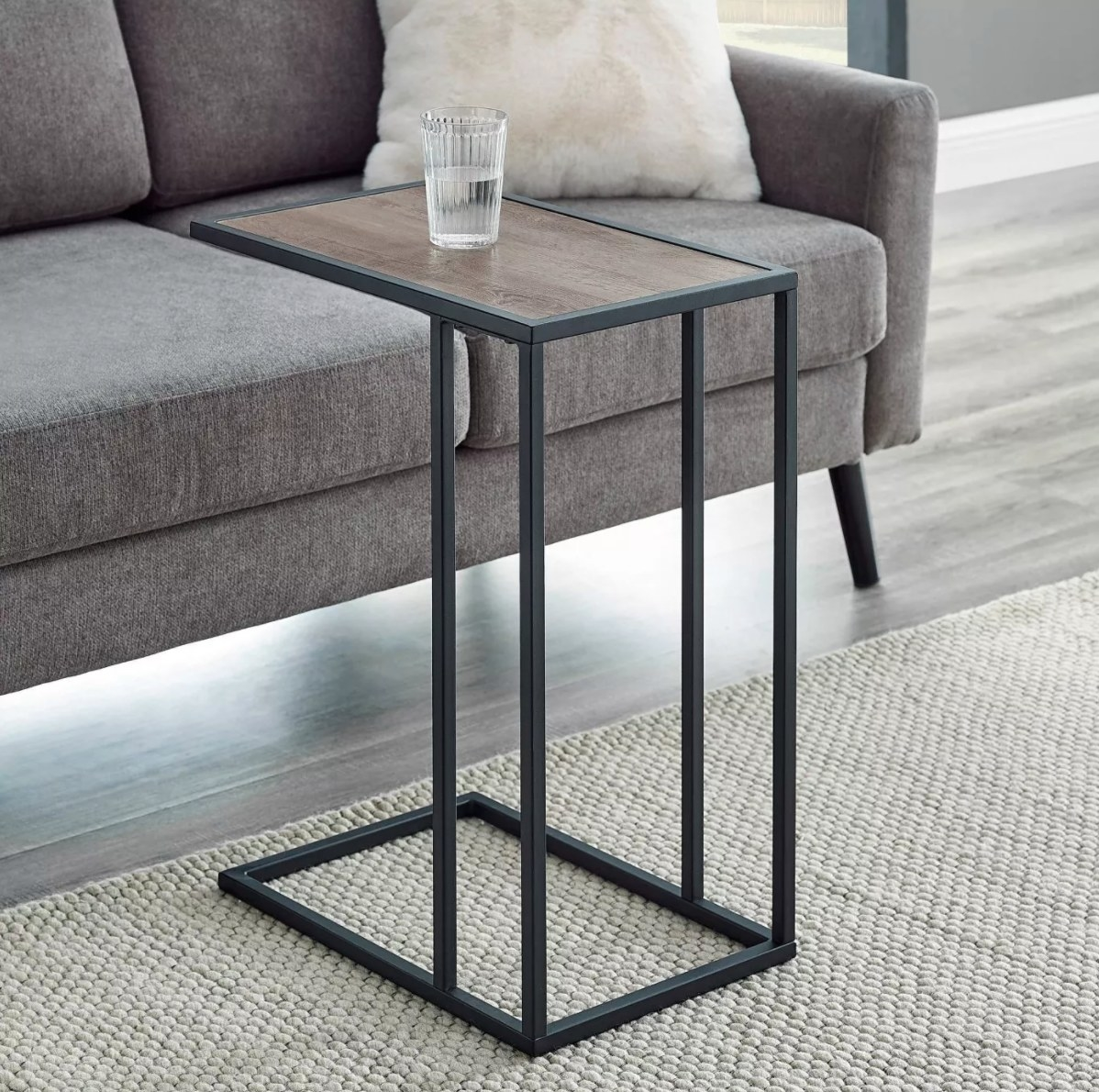 The side table in gray wash