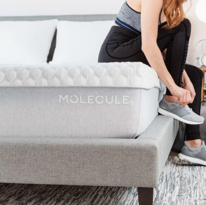 The one-foot tall memory foam Molecule mattress