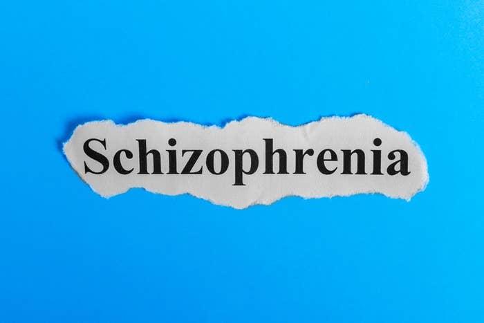 Schizophrenia text on paper