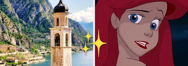 Italian landscape next to Ariel