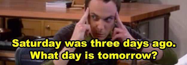 Sheldon using his brain power in The Big Bang Theory and the question