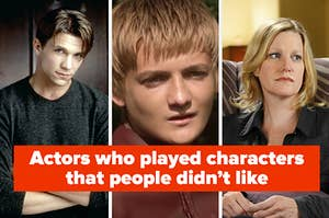 """""""Actors who played characters that people didn't like"""" with a picture of Riley from Buffy, Joffrey from Game of Thrones, and Skyler from Breaking Bad"""