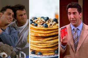joey ross and chandler and pancakes