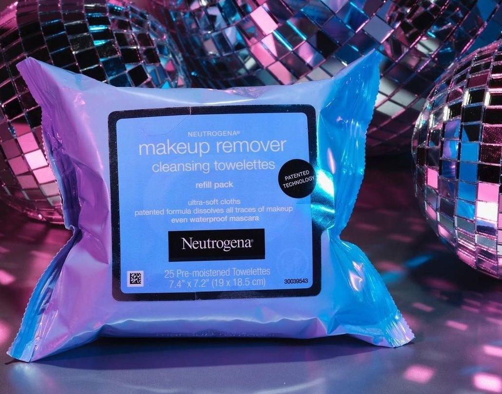 Neutrogena makeup remover wipes near disco balls