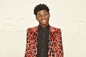 Lil Nas X at the Tom Ford fashion show in February 2020