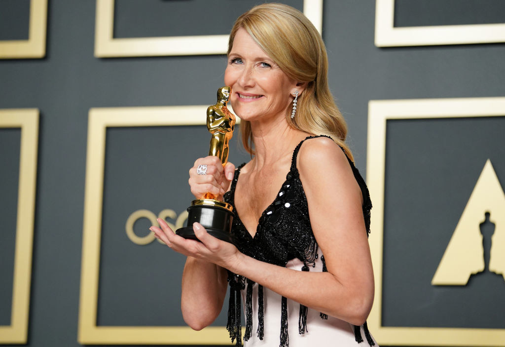 """Laura Dern, winner of Best Actress in a Supporting Role for """"Marriage Story"""", poses in the press room during 92nd Annual Academy Awards"""