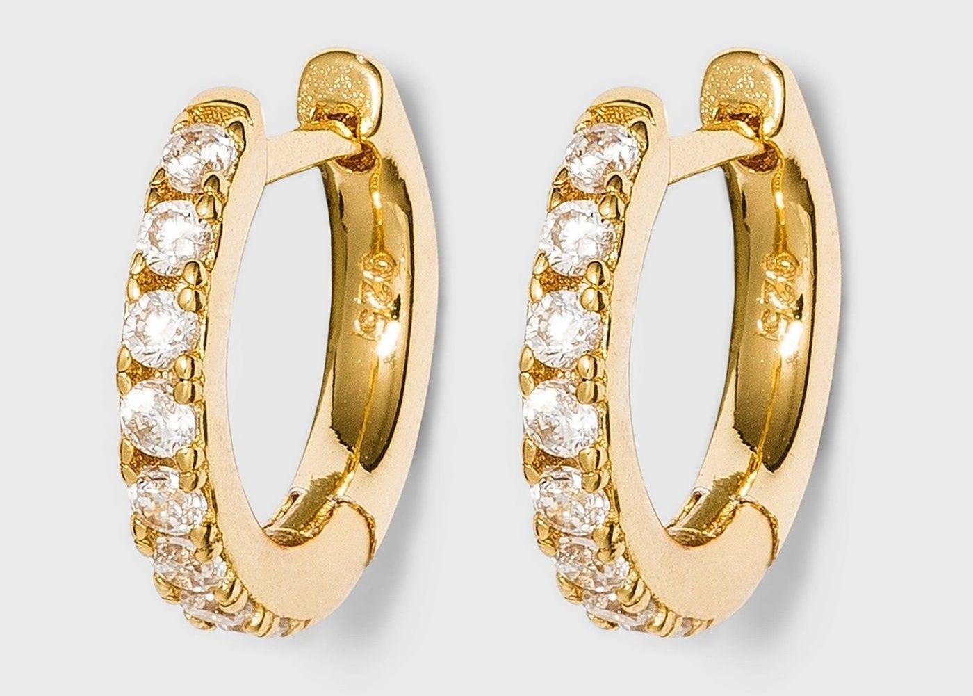 pair of huggie hoop earrings