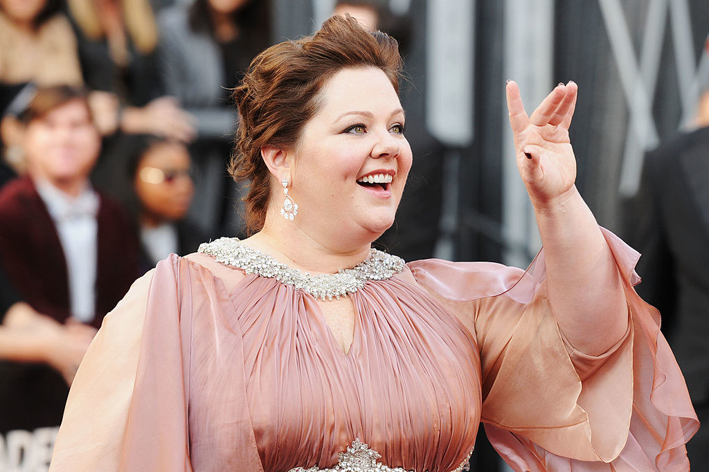 Melissa McCarthy arrives at the 84th Annual Academy Awards