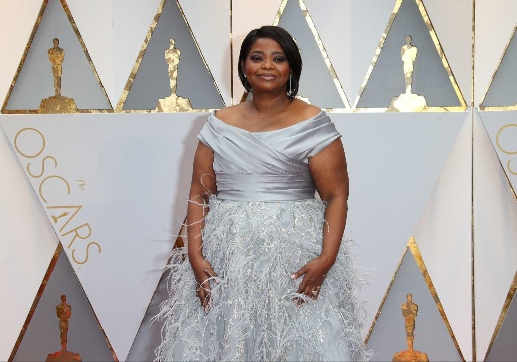 Octavia Spencer arrives at the 89th Annual Academy Awards
