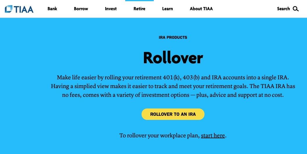 Screenshot of rollover option