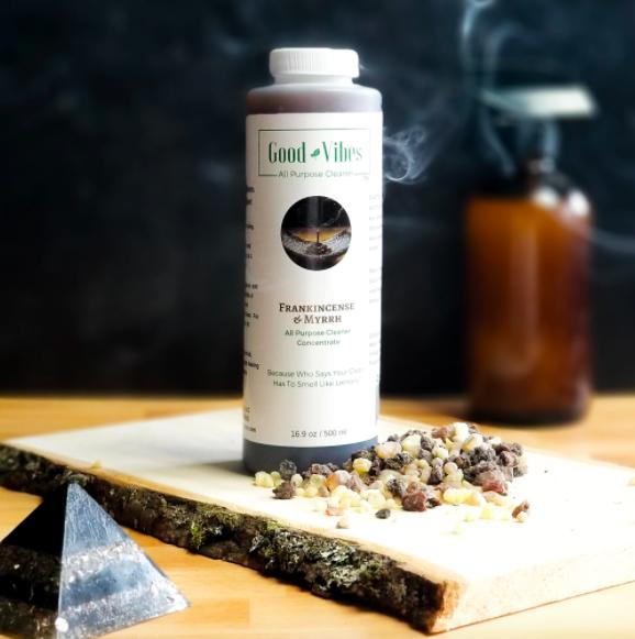 The bottle of Frankincense & Myrrh All Purpose Cleaner