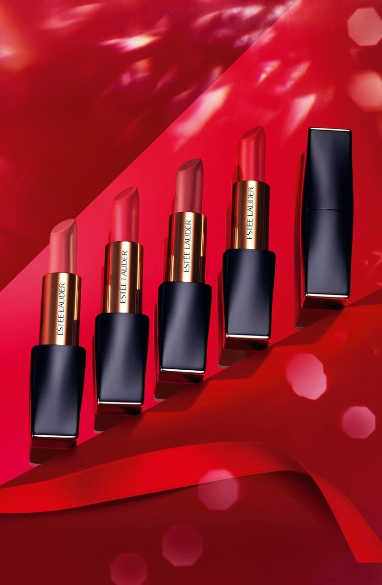 A variety of red shades of the product