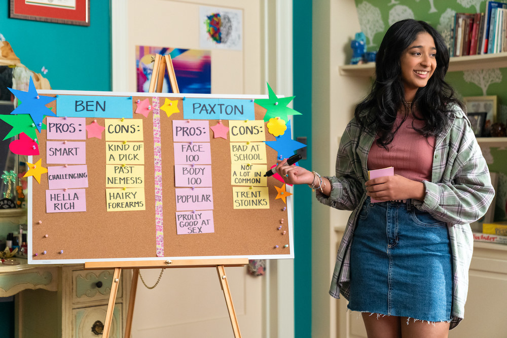 Devi making a pros and cons list