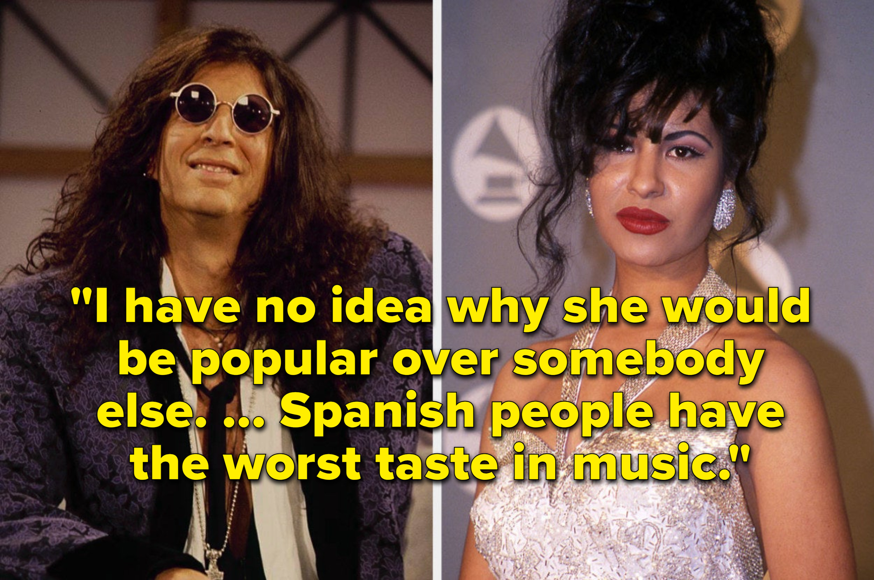Howard's comment: I have no idea why she would be popular over somebody else. Spanish people have the worst taste in music