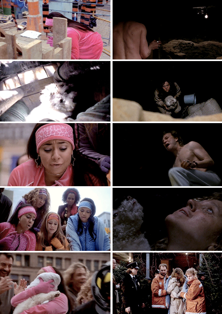 "The Cheetah girls rescuing a dog in a hole just like they did in ""The Silence of the Lambs"""