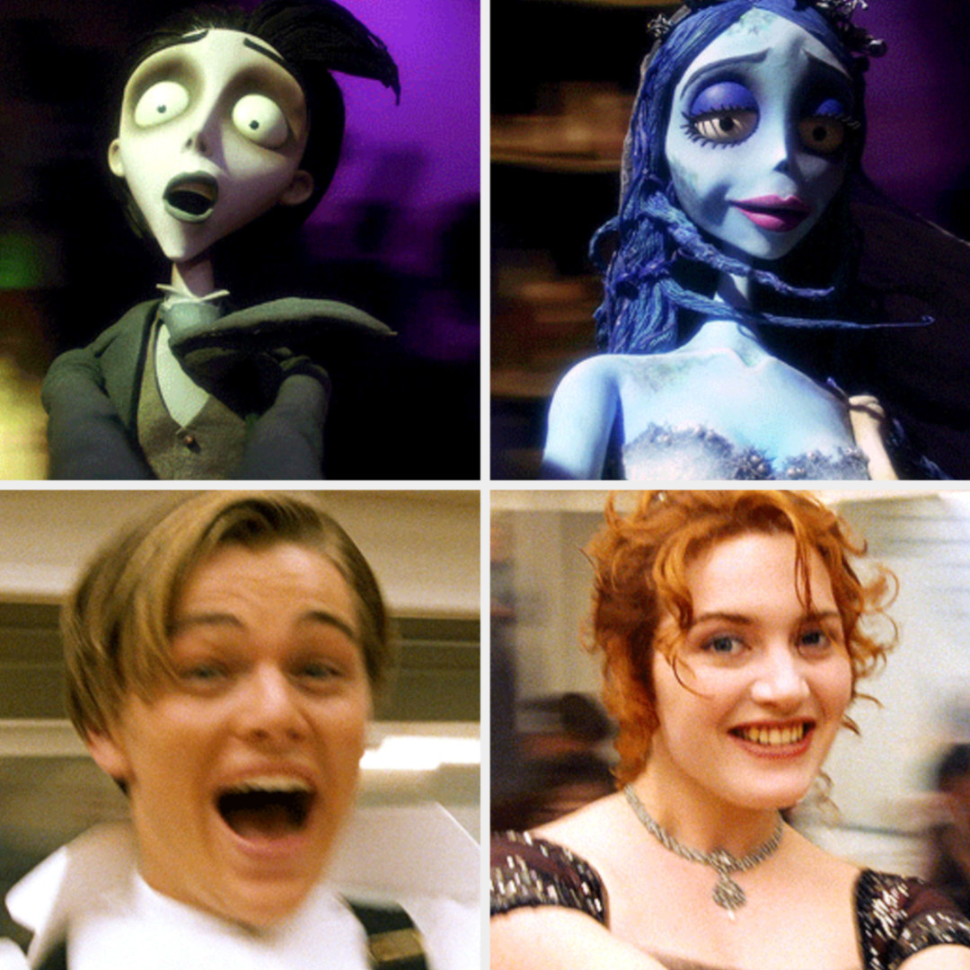"""Corpse Bride"" poking fun at the spinning dancing scene from ""Titanic"""