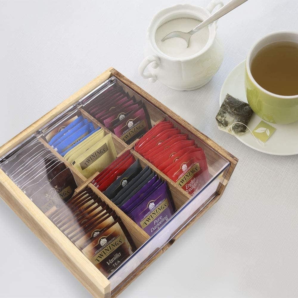organizer with tea