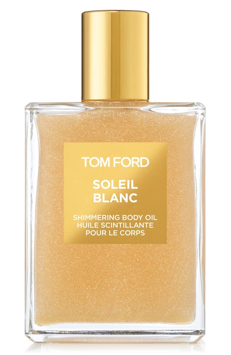 A bottle of the product in gold
