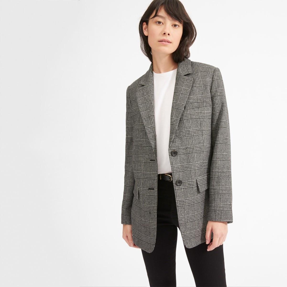 A model wearing the blazer
